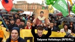"""""""Марш за свободный интернет"""" в Петербурге, 1 мая 2018 года"""