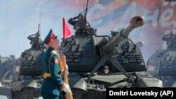 Артилерійська установка «Мста-С» на параді в Москві, 9 травня 2019 року