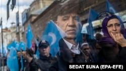 """The report says of the Members of China's Uyghur Muslim population continue to be subject to that """"the Chinese government has ripped entire families apart, detaining between 800,000 and 2 million adults in concentration camps and relegating some of their children to orphanages."""""""
