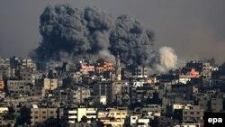 Израиль күштерінің соққысынан кейінгі көрініс. Газа секторы, 22 шілде 2014 жыл.