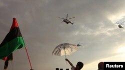 ليبيون يحتفلون بإعلان التحرير