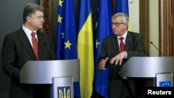 Петро Порошенко і Жан-Клод Юнкер