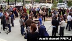 صحفيون في تظاهرة
