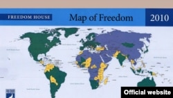 Карта свободы, составленная Freedom House