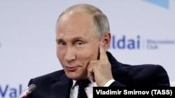 Владимир Путин на Валдайском форуме год назад