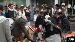 Pamje nga sulmi vetëvrasës në Jemen