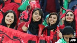 Iranian women sometimes receive special permission to attend men's football matches.