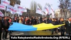 «Батьківщина» на дніпропетровському Євромайдані, 23 лютого 2014 року