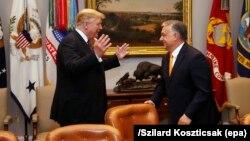 Архивска фотографија - Доналд Трамп и Виктор Орбан во Белата куќа, 13 мај 2019 година