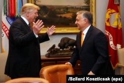 Венгрия бош вазири Виктор Орбан (чапда) Трампни қўллаб келган.