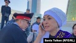 Канагат Такеева. Алматалык жарандык активист.