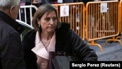 Спікер парламенту Каталонії Карме Форкадель перед допитом у Верховному суді Іспанії, 9 листопада 2017 року