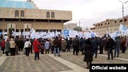 Соцпрофның Казанда пенсия реформасына, торак-коммуналь хуҗалык эшләре өчен бәяләрнең артуына протест чарасы. Февраль 2012