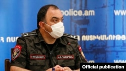 Armenia -- Vahe Ghazarian, the newly appointed chief of the Armenian police, is introduced to his staff, Yerevan, June 9, 2020.