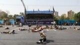 Pamje nga parada ushtarake në Iran.