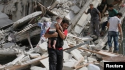 Алеппода әуе шабуылынан қираған аймақ. 21 қыркүйек 2016 жыл.