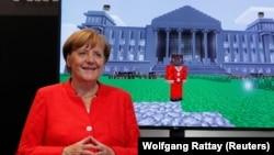 Канцлер Германии Ангела Меркель. Кельн, 22 августа 2017 года.
