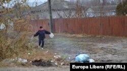 Pe partea din România a satului
