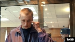 Обвиняемый Александр Копцев в зале заседаний Мосгорсуда.