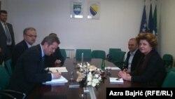 Razgovor Dunje Jevak sa predstavnici vlasti Unsko-Sanskog kantona