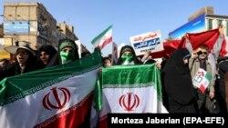 Ирандагы демонстранттар.
