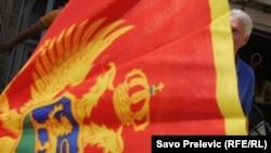 Crnogorska zastava - ilustracija