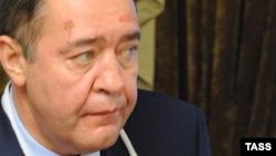 """Михаил Лесин, бывший министр печати России, глава медиахолдинга """"Газпром-медиа""""."""