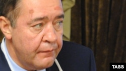 "На снимке: глава ""Газпромедиа"" Михаил Лесин"