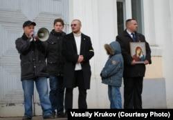 """Василий Крюков на """"Русском марше"""". Ижевск, 2010"""