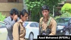 مسلحان من الحزب الديمقراطي الكردستاني الايراني