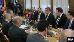 Архива: Генералниот секретар на НАТО Јенс Столтенберг и претседателот на ВМРО-ДПМНЕ Христијан Мицкоски во Скопје.