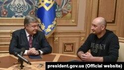 Петр Порошенко и Аркадий Бабченко, 30 мая 2018 года
