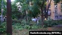 Последствия бури в Одессе. Июнь 2013 года