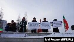 На митинге в поддержку татарского языка. Казань, 18 февраля 2018 года.