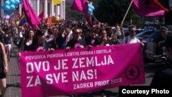 Jedna od šetnji Zagreb Pridea kroz centar grada, koji organizuju svake godine