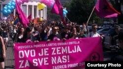 Sa Pride parade u Zagrebu, foto: klix.ba