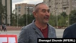 Гражданский активист Берик Ногаев.