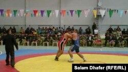 جانب من منافسات بطولة المصارعة بميسان