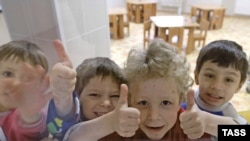 Жители специализированного детского дома для ВИЧ-инфицированных сирот в Санкт-Петербурге