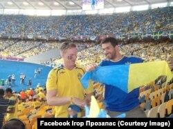 Ігор Прозапас під час футбольного матчу, 2012 рік