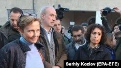 Послы ФРГ, Франции и Великобритании на Донбассе, архивное фото