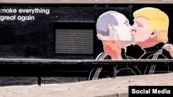 Litvada Trump-ın Putinə rəğbətini əks etdirən qraffiti