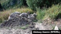 Көкжайлаудағы құрылыс жұмысы. Алматы, 10 тамыз 2014 жыл.