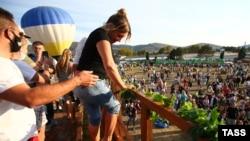 Фестиваль сбора урожая и виноделия WineFest в Балаклаве, 3 октября 2020 года