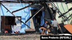 Podgorica: Izbjegličko naselje dan nakon požara