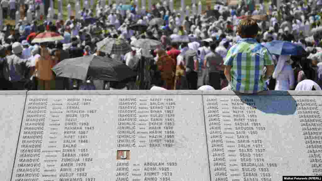 Bosnia and Herzegovina - Burial of 520 recently identified victims of the Srebrenica, Potocari, July 11, 2012.