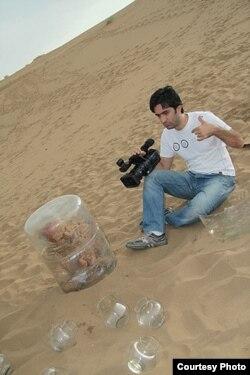 Behzad Molod sənədli film çəkilişi zamanı