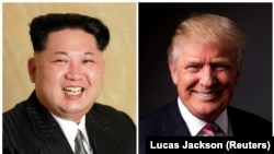 North Korean leader Kim Jong Un (left) and U.S. President Donald Trump (combo photo)
