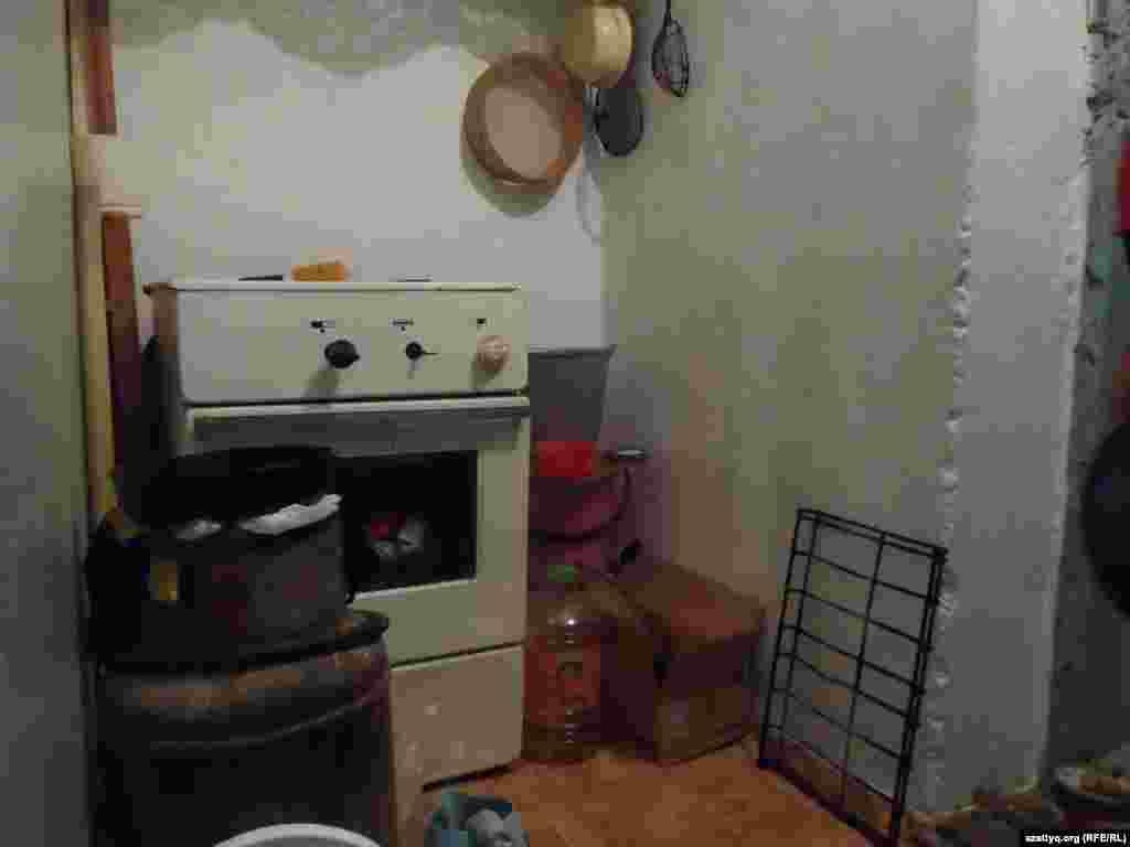 Уголок, где готовят пищу.