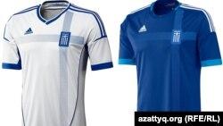 Грекия ұлттық құрамасының киімі.
